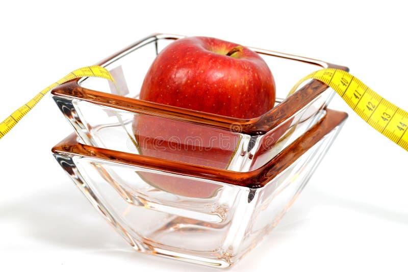 Apple en glas royalty-vrije stock foto