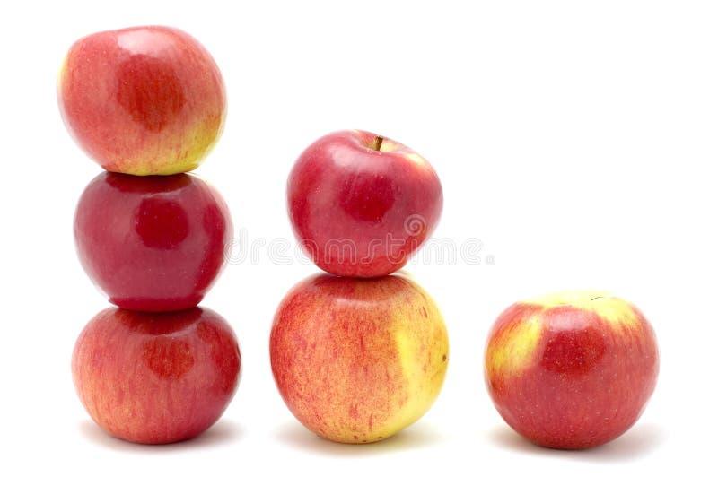Apple en orden de la talla foto de archivo libre de regalías