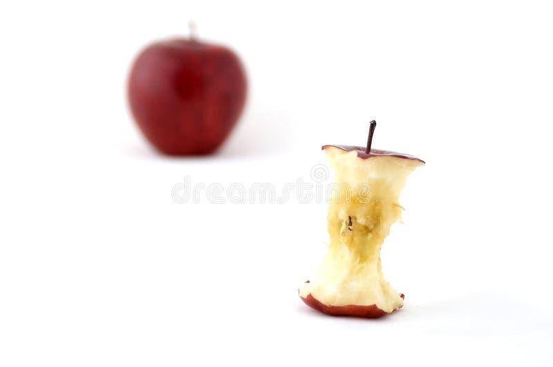 Apple entkernen lizenzfreies stockfoto