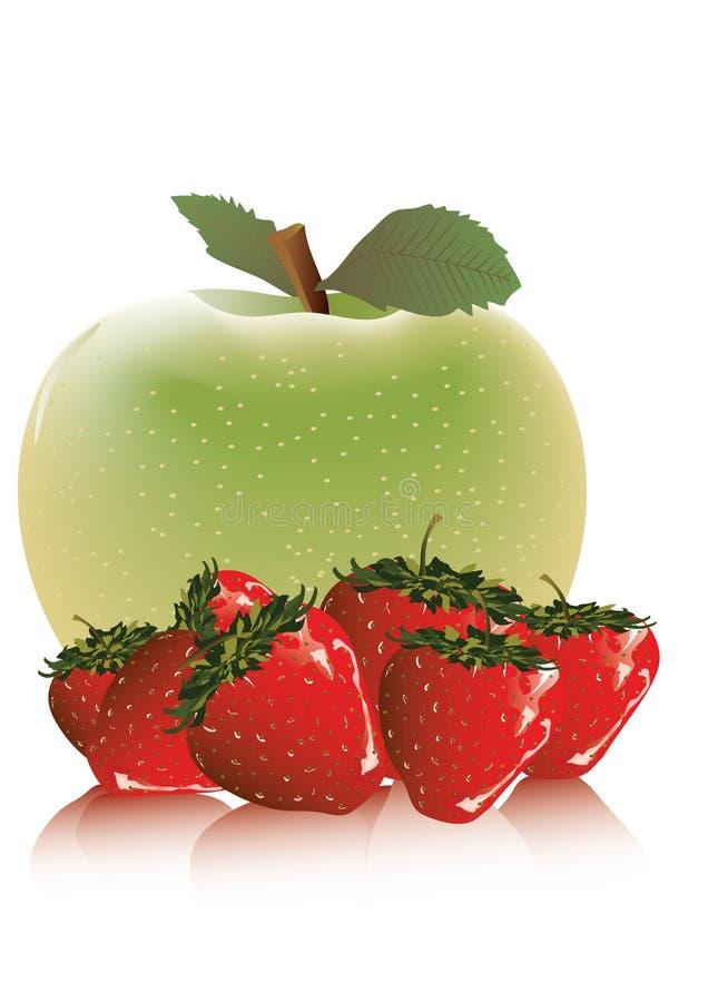Download Apple et fraise illustration de vecteur. Illustration du agriculture - 8653580