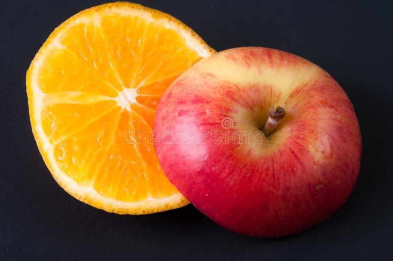 Apple et orange image libre de droits