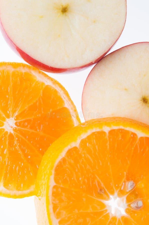 Apple et orange photographie stock