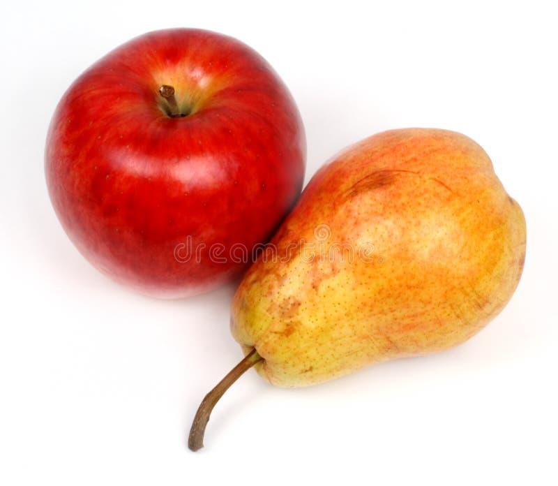Apple et poire image stock