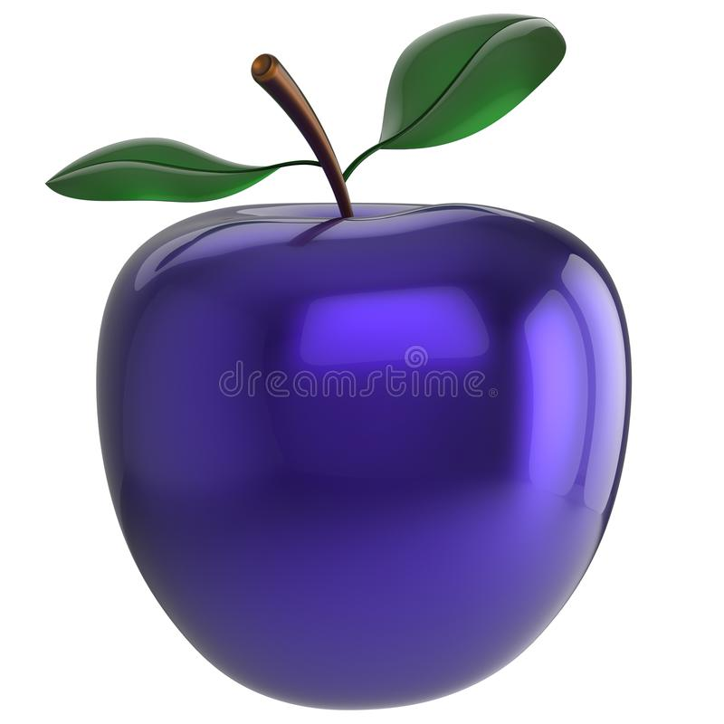 Apple experiment poison blue food research nutrition fruit. Apple experiment poison blue food research nutrition anomaly fruit antioxidant fresh ripe exotic vector illustration