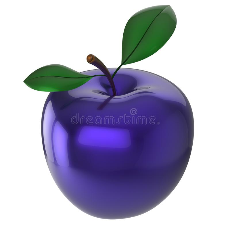 Apple experimental blue food research nutrition fruit organic. Apple experimental blue food research nutrition fruit antioxidant fresh ripe exotic anomaly vector illustration
