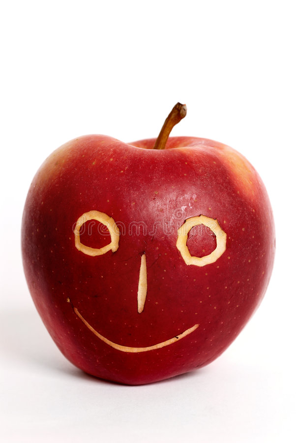 Apple-face royalty free stock photography