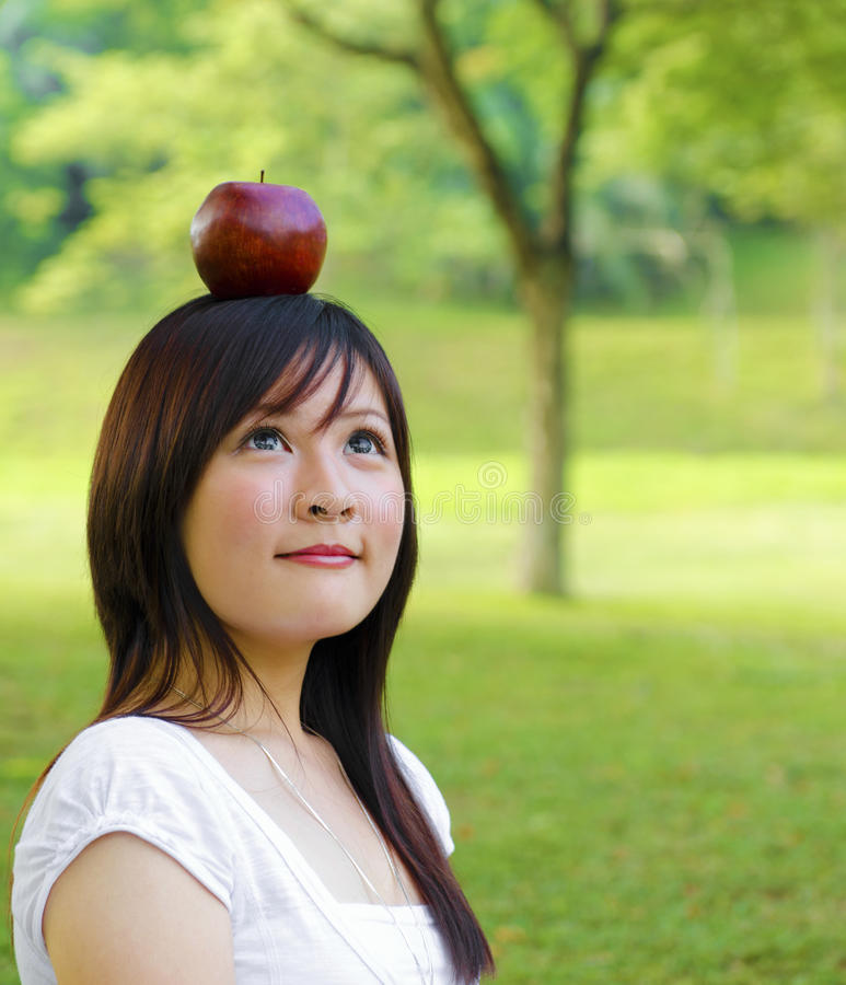 Download Apple Fall On Head Royalty Free Stock Photography - Image: 25983797