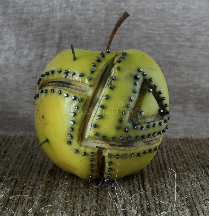 Apple fijado imagen de archivo libre de regalías
