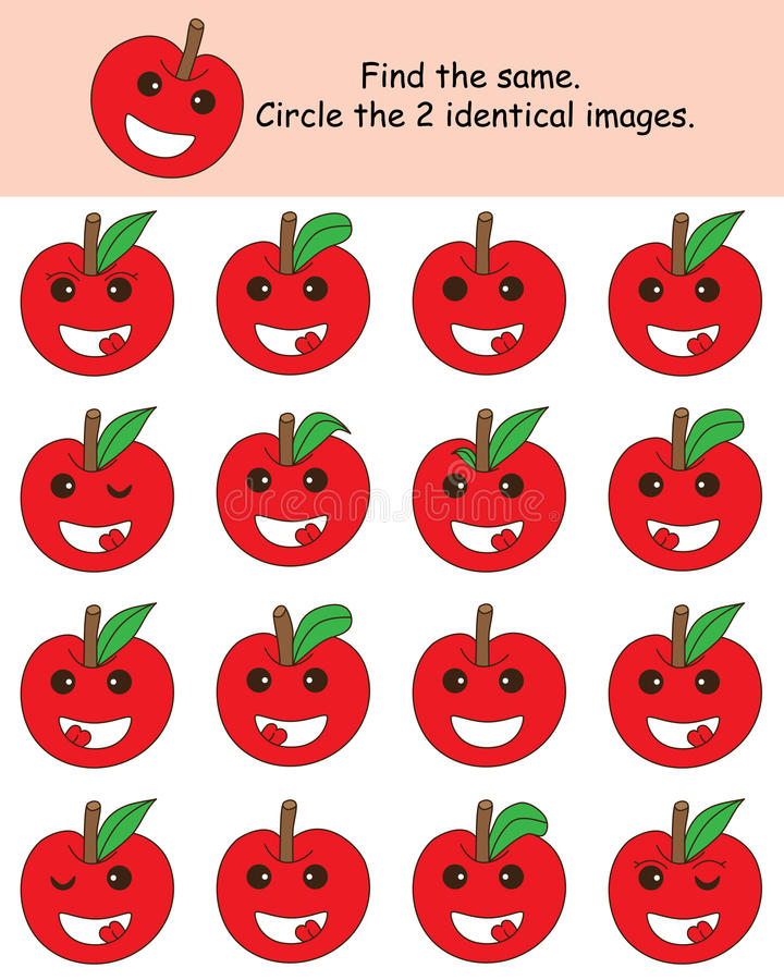 Free Apple Find The Same Stock Photography - 64469322