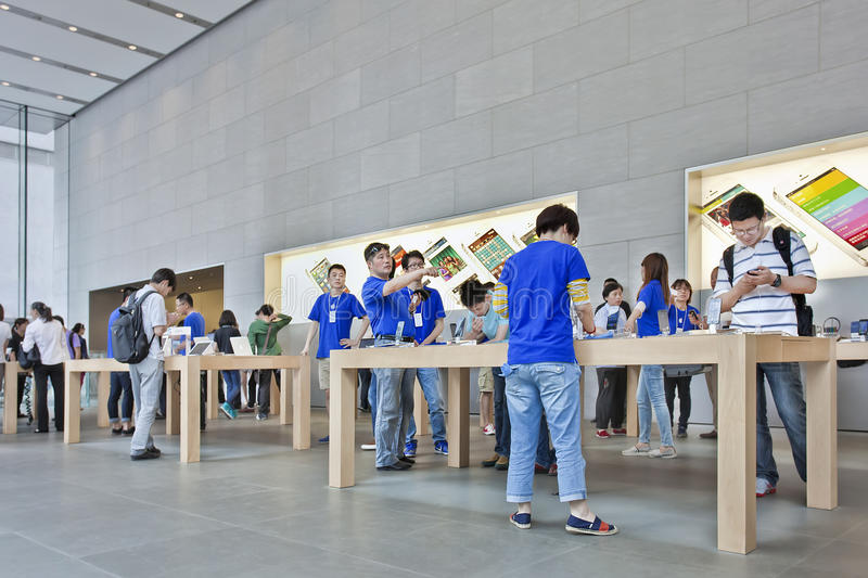 Apple flagship store Shanghai, China royalty free stock image