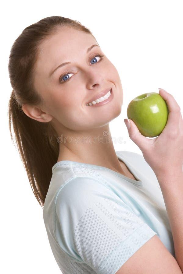 Apple-Frau stockbild