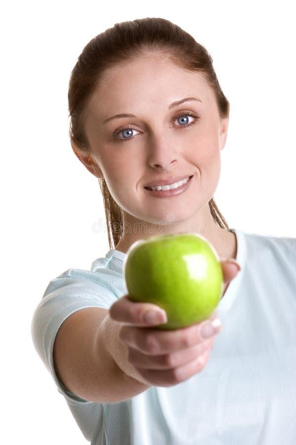 Apple-Frau lizenzfreies stockbild
