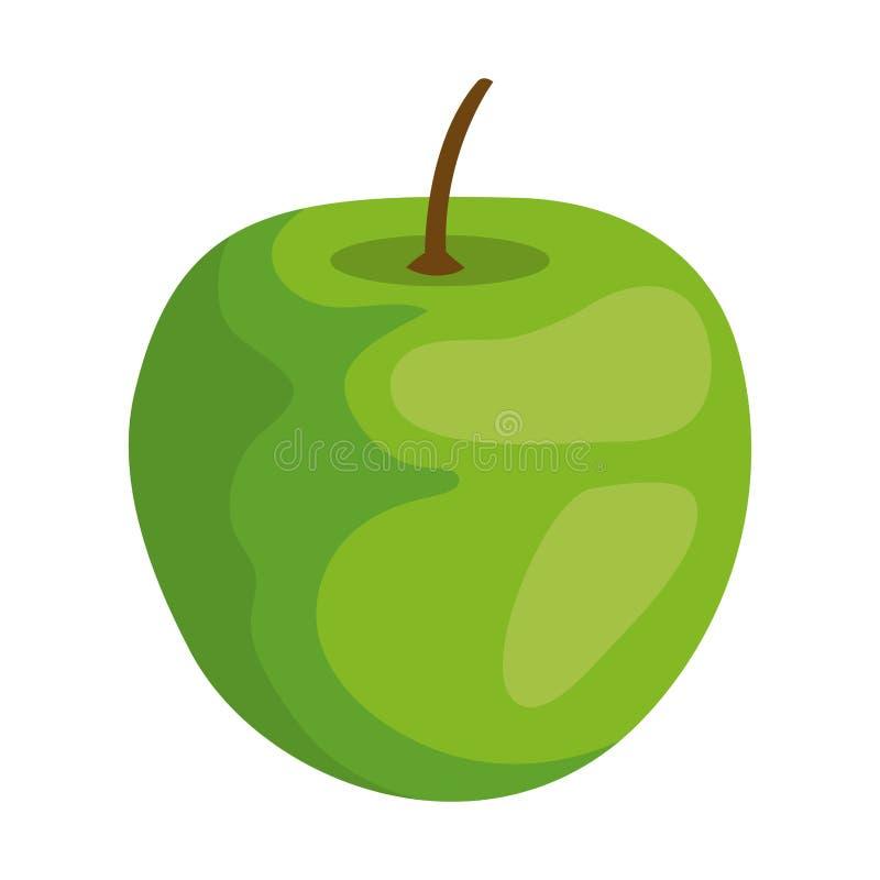 Apple fresh fruit icon stock illustration