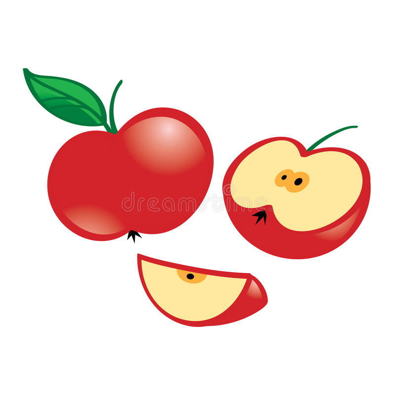 Download Apple stock vector. Image of snack, lunch, food, green - 31435676
