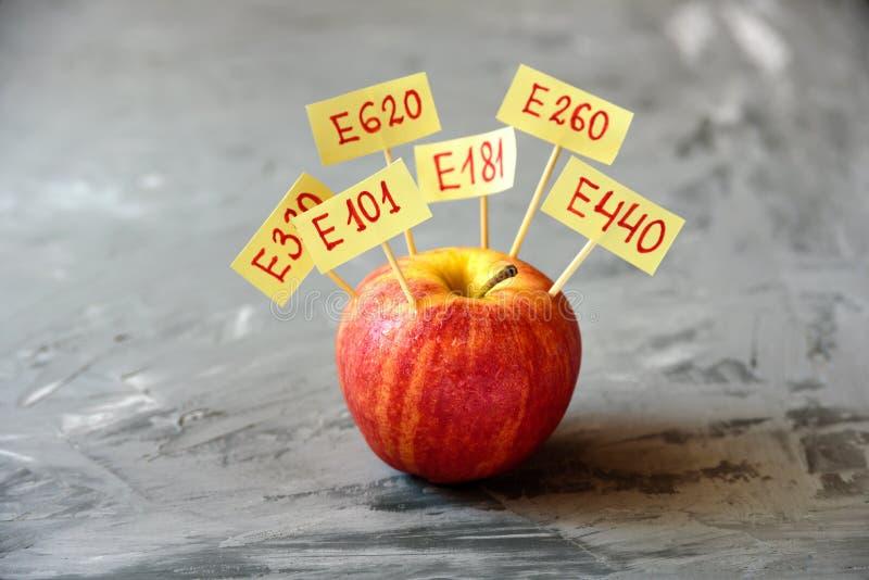Apple-Fruit met natuurlijke e-additieven stock foto