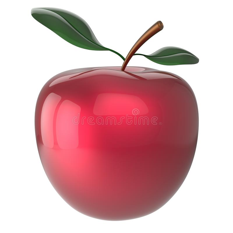 Apple fruit red agriculture beauty nutrition icon. Apple t red nutrition ripe antioxidant fresh exotic agriculture beauty icon. 3d render isolated on white stock illustration
