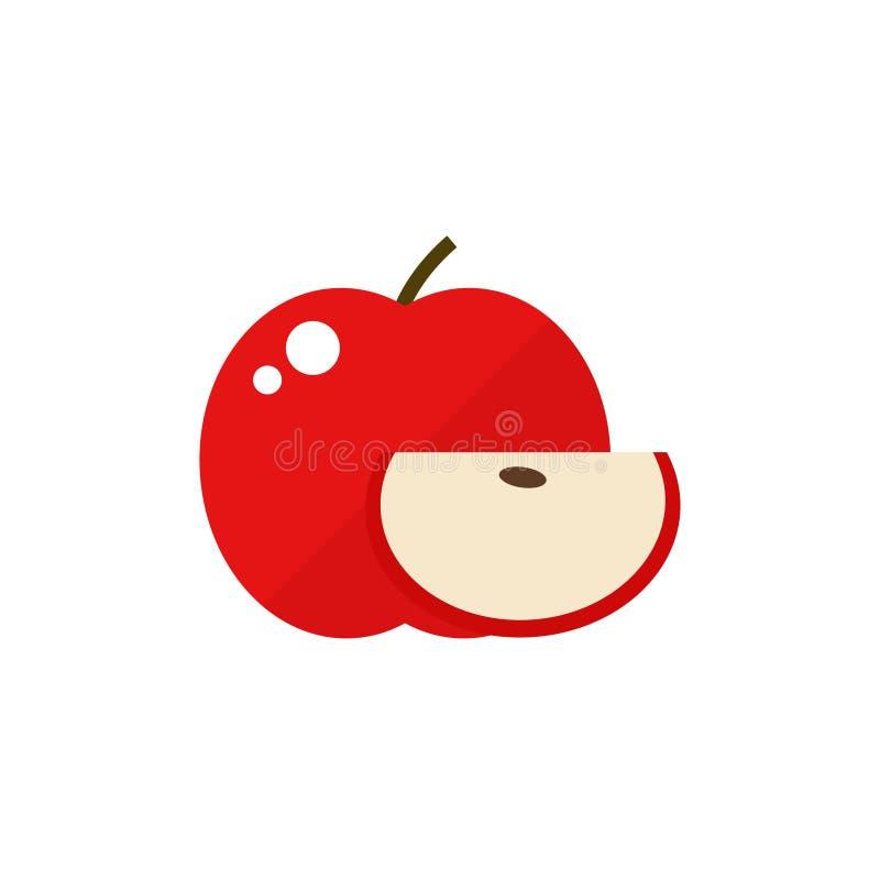 Apple-fruitpictogram royalty-vrije stock afbeelding