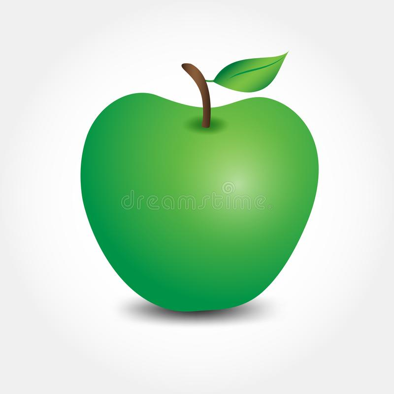Apple-fruitvector, Webpictogram, teken vector illustratie