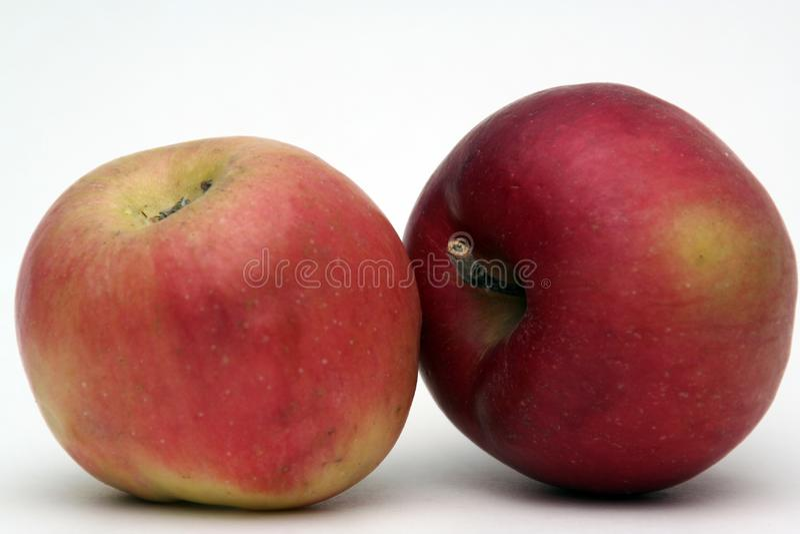 Apple frukt-lappar fotografering för bildbyråer