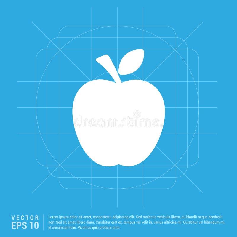 Apple fruktsymbol royaltyfri illustrationer