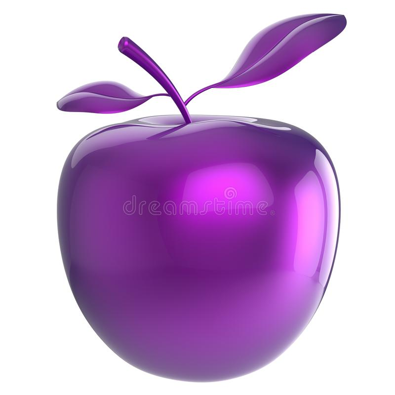 Apple fun fruit purple blue research experiment nutrition icon. Apple fun fruit purple blue research experiment, nutrition antioxidant fresh food exotic, danger stock illustration
