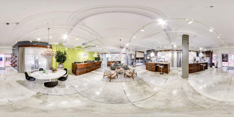 Apple funziona l'ufficio un vr da 360 gradi fotografie stock libere da diritti
