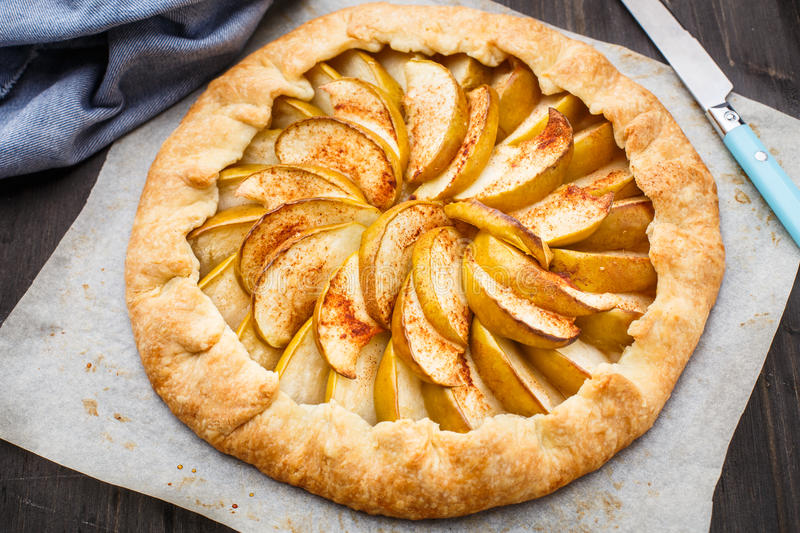 Apple galette royalty free stock images