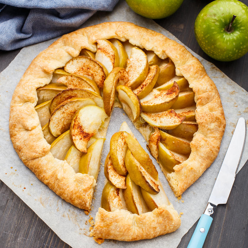 Apple galette stock photo