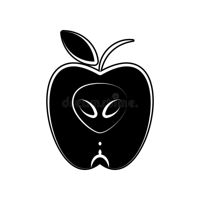 Apple, Gemüseikone Element der Mutterschaft für bewegliches Konzept und Netz Appsikone Glyph, flache Ikone für Websiteentwurf und stock abbildung