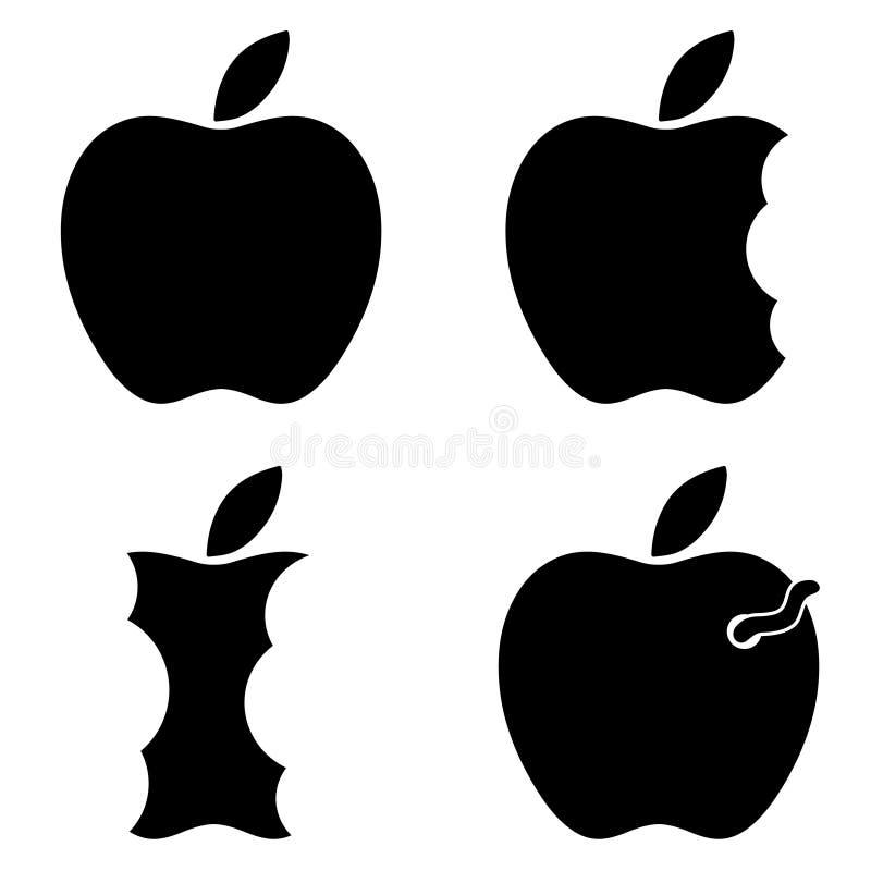 Apple-gewijzigd embleem royalty-vrije stock afbeeldingen