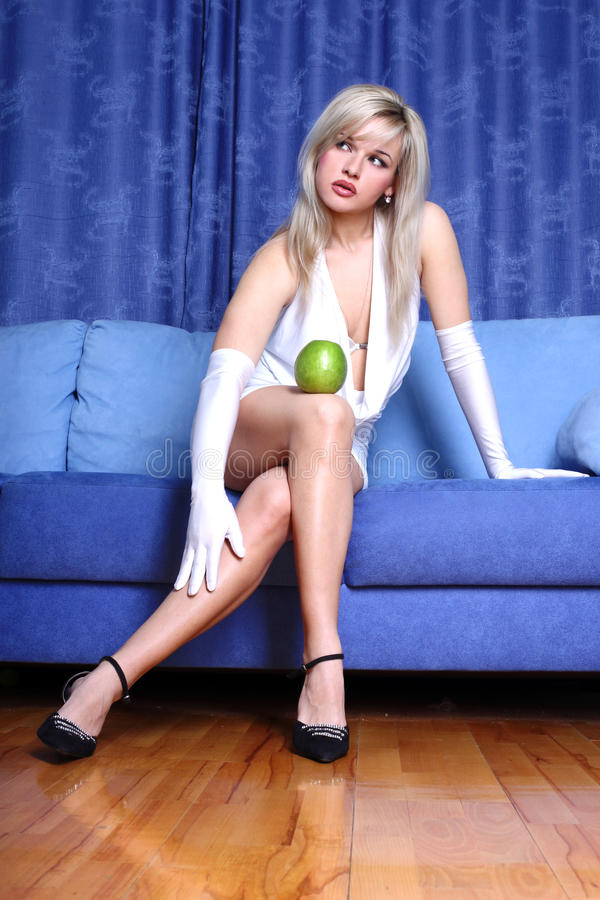 apple girl στοκ φωτογραφίες