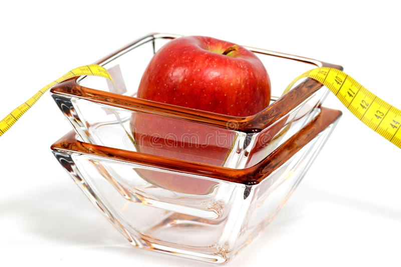 Apple and glass royalty free stock photo