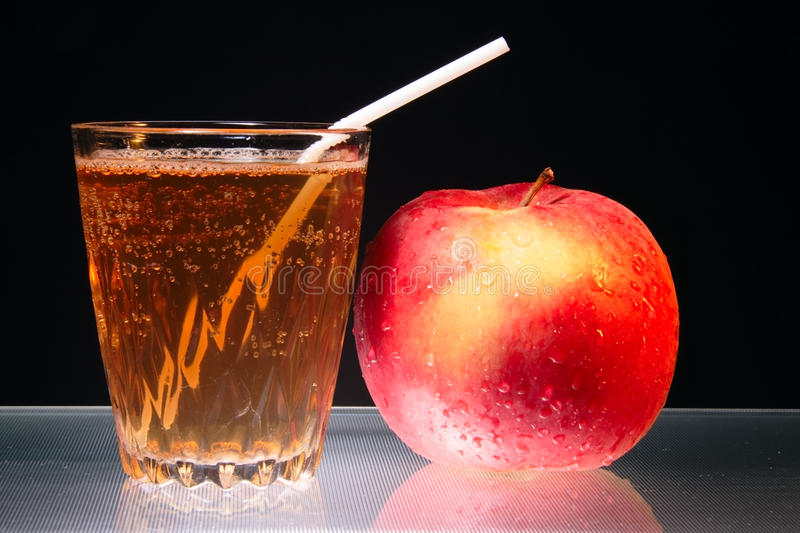 Download Apple And Glass Of Juice On Glass Diet Symbol Stock Photo - Image of juice, water: 12233992
