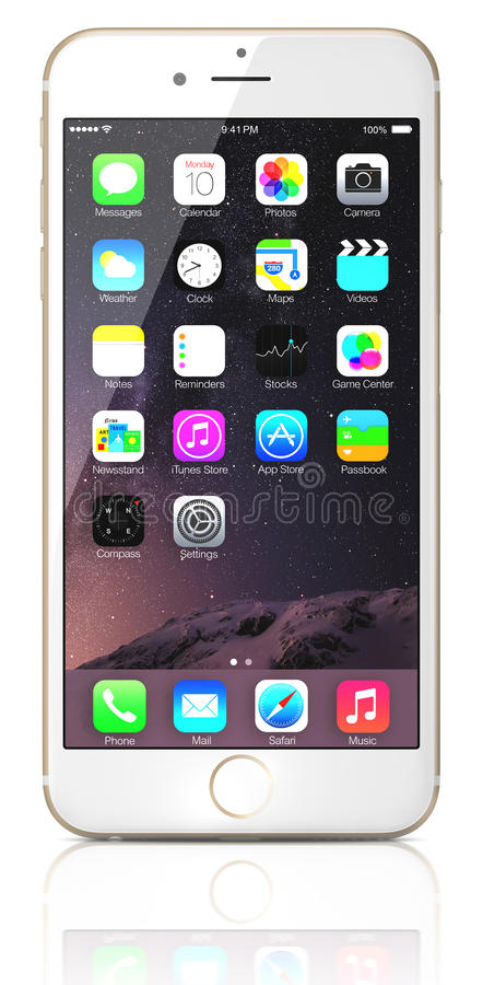 Apple Gold iPhone 6 royalty free stock photography