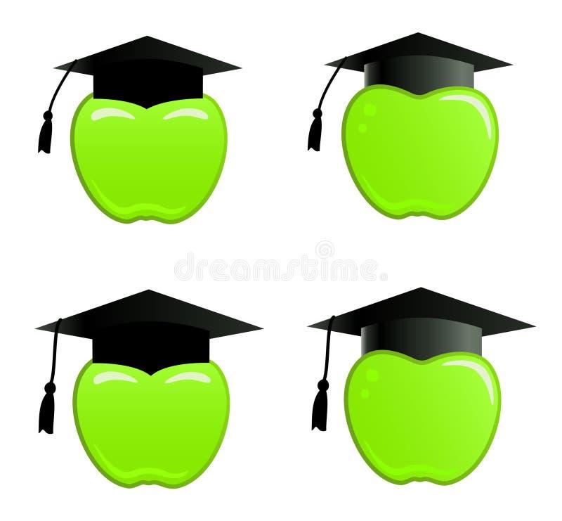 Download Apple in graduation cap stock illustration. Illustration of clip - 8558337