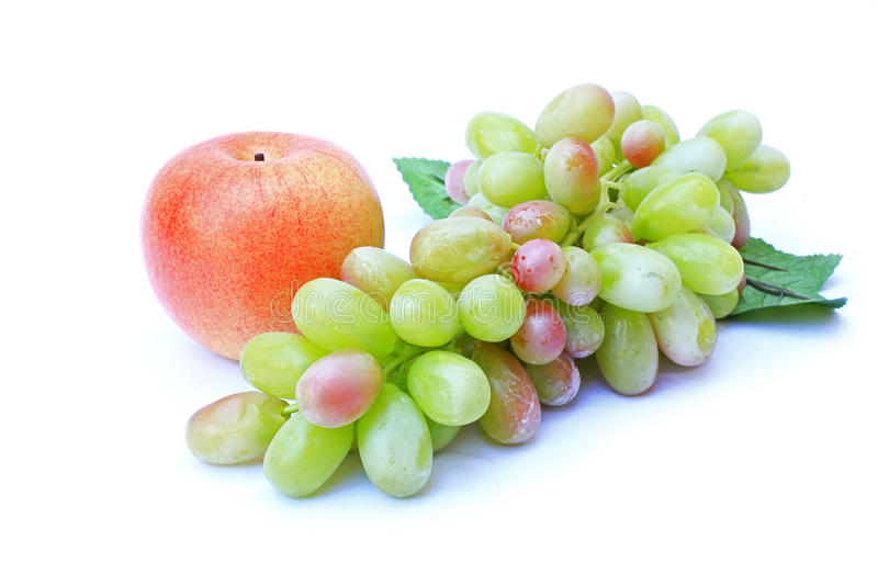 Apple and grape stock photography