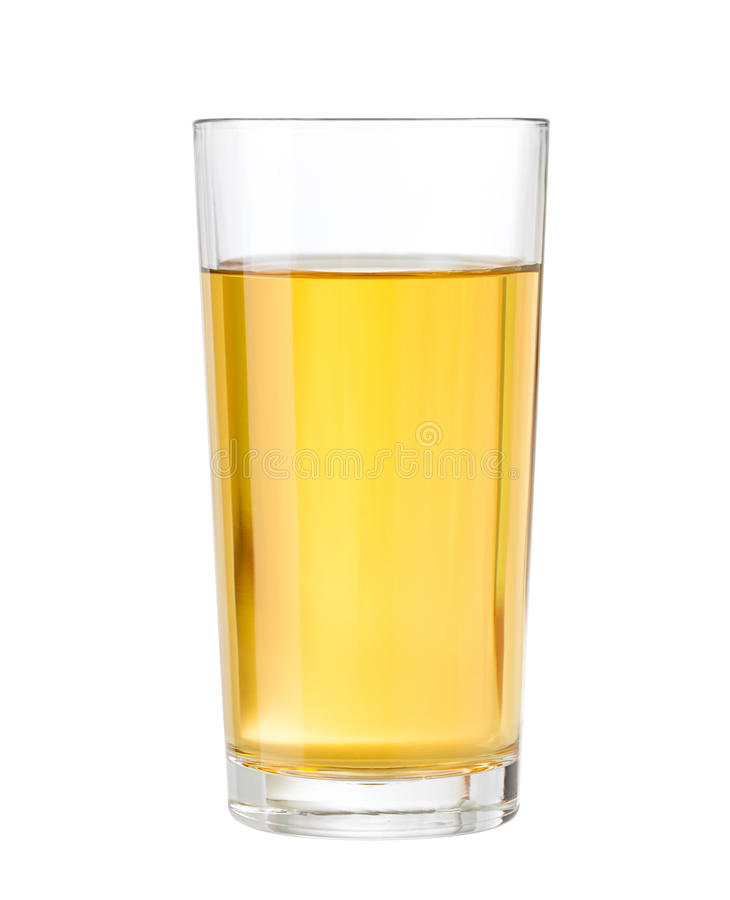 Apple or grape clarified juice in glass isolated. With clipping path included royalty free stock photography