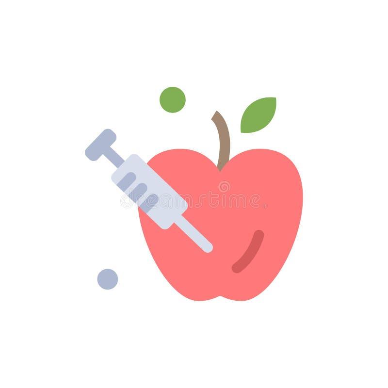 Apple, gravidade, ícone liso da cor da ciência Molde da bandeira do ícone do vetor ilustração do vetor