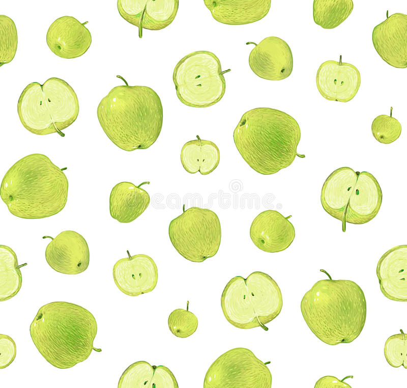 Apple green pattern royalty free stock photos