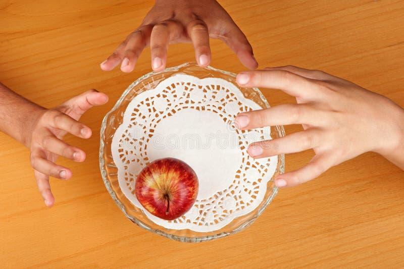 Apple-greep stock afbeeldingen