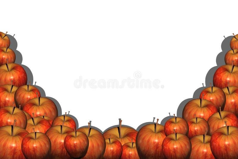 Apple grund vektor illustrationer