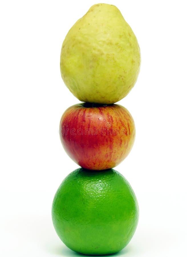 Apple guava och apelsin arkivfoto