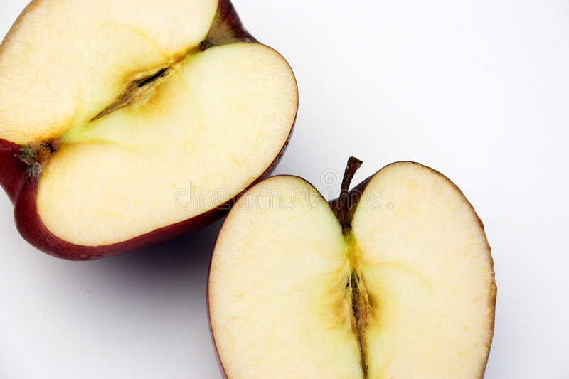 Apple-Hälften lizenzfreie stockbilder