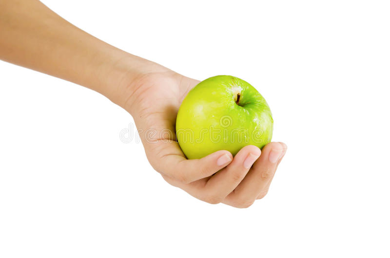 Download Apple on hand stock photo. Image of ripe, organic, hand - 26613284