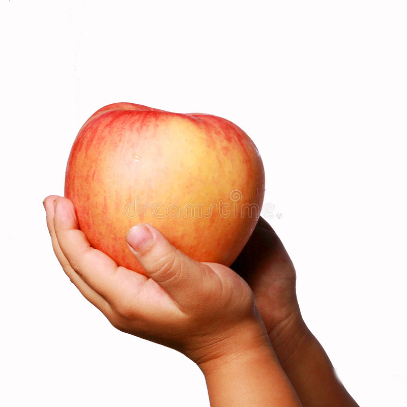 Download Apple And  Hand. Royalty Free Stock Photography - Image: 6781507