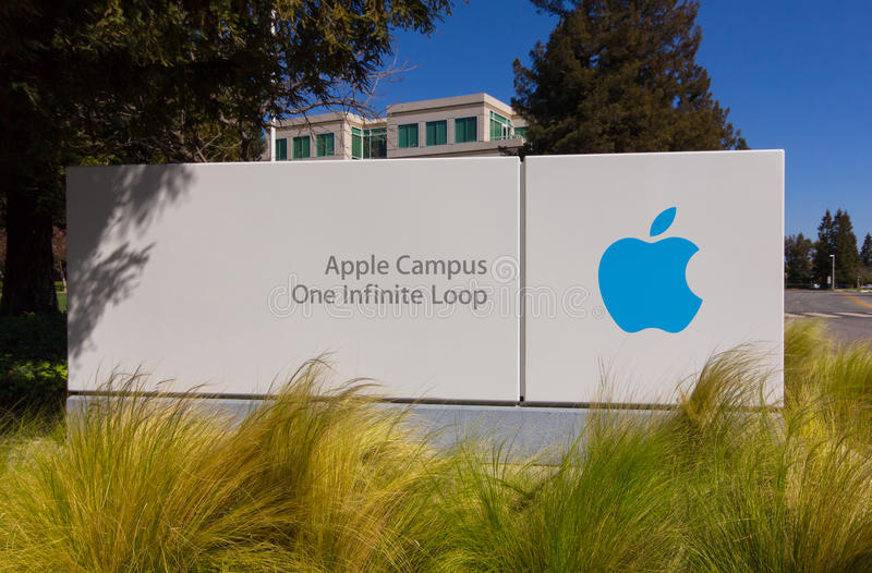 Apple-Hauptsitze in Silicon Valley stockfotografie