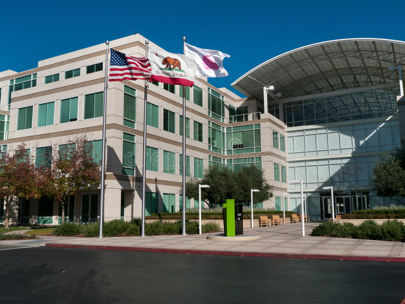 Apple headquarters in Cupertino California royalty free stock photo
