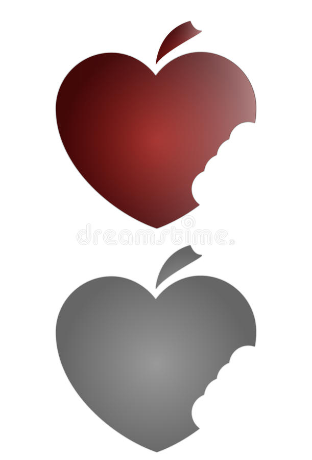 Download Apple heart stock vector. Illustration of bite, sweet - 15346104