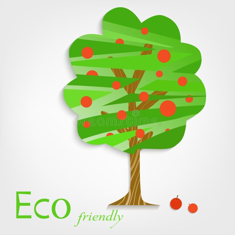 Apple-het pictogram van het boomembleem vector illustratie