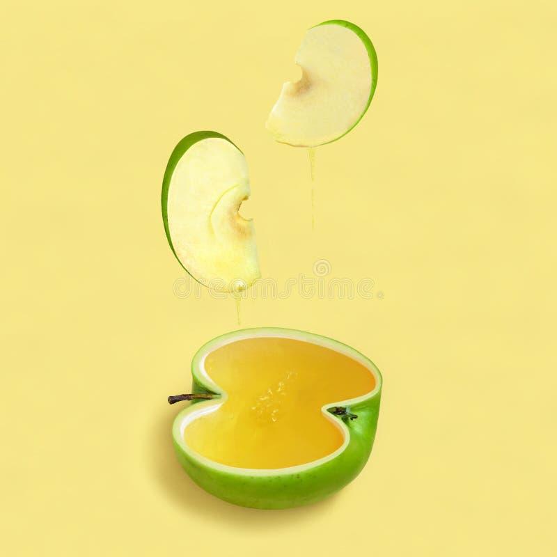 Apple And Honey Are Symbols Of Jewish New Year Rosh Hashanah Stock